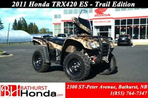 2011 Honda TRX420 ES Electronic Shift! Windshield! Winch!