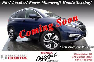 2015 Honda CR-V TOURING Auto Start! Nav! Leather! Power Moonroof