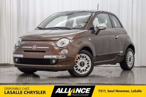 2014 Fiat 500 LOUNGE | CUIR | TOIT | BLUETOOTH | ACCIDENT FREE!!