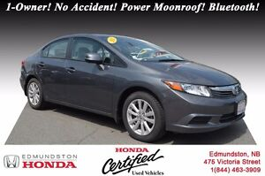 2012 Honda Civic Sedan EX Honda Certified! 1-Owner! No Accident!