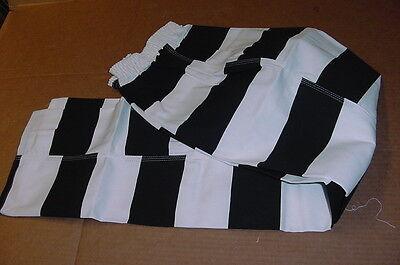 Bob Barker Prison Jail Convict Pants Black & White Stripe heavy duty sz. L (Prison Convict Costume)