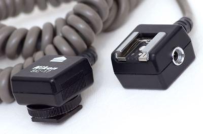 Genuine Nikon SC-17 Coiled TTL Remote Flash Sync Cord (Compatible w/ SC-28)
