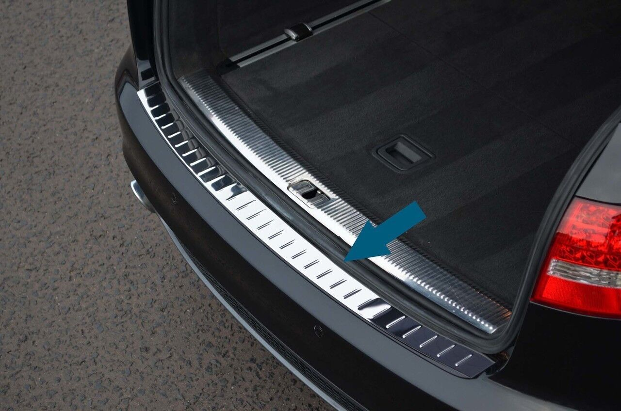 Audi-A4 B8 Wagon Rear Bumper Stainless Steel Protector Guard Trim Cover Chrome S