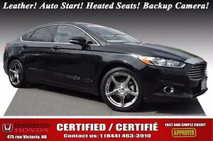 2014 Ford Fusion SE Nav! Leather! Auto Start! Heated Seats! Back