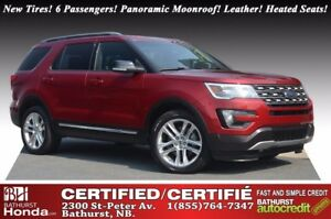 2016 Ford Explorer XLT - 4WD 6 Passengers! AWD! Panoramic Moonro