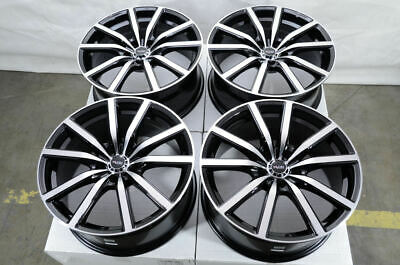 18x8 5x120 Black Wheels Fits Bmw 135 328 325 330 335 Cadillac Cts Xts 5 Lug Rims