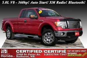 2011 Ford F-150 XLT - 4WD 5.0L V8 - 360hp! Auto Start! XM Radio!