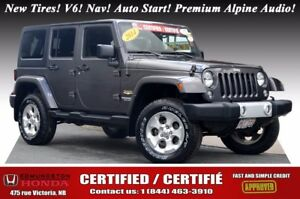 2014 Jeep Wrangler Unlimited SAHARA New Tires! V6! Nav! Auto Sta