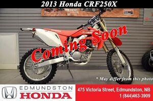 2013 Honda CRF250X High-rpm performance!! Excellent stability an