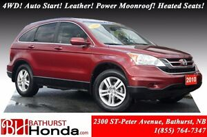 2010 Honda CR-V EX-L 4WD! Auto Start! Leather! Power Moonroof! H