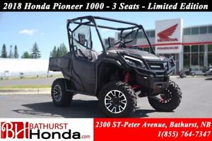 2018 Honda Pioneer 1000 Limited Edition - 3 seats LIMTED EDITION