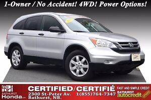 2011 Honda CR-V LX Certified! 1-Owner / No Accident! 4WD! Power
