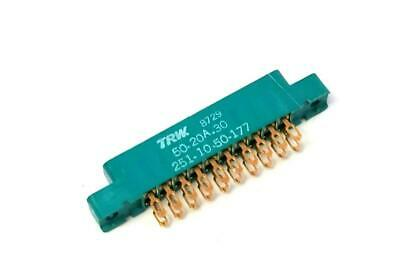 New Trw 50-20a-30 Standard Edge Connector 20 Pin Gold Platted 29 Available