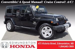 2010 Jeep Wrangler Unlimited SAHARA Convertible! 6 Speed Manual!