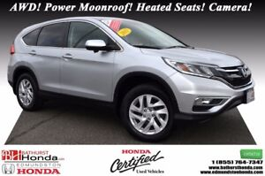 2015 Honda CR-V EX AWD! Power Moonroof! Heated Seats! Push Start