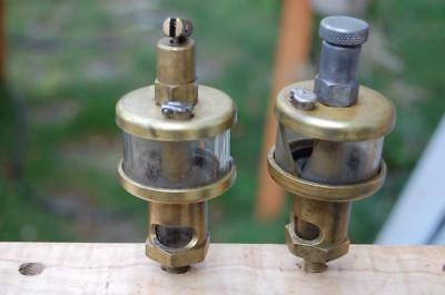 2 Gits Bros.brass Oiler Hit Miss Engine Steam Antique Train For Parts Oilers