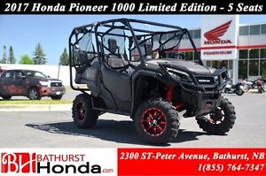 2017 Honda Pioneer 1000 Limited Edition - 5 seats Red Mag Wheels