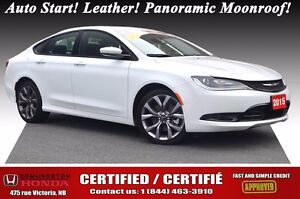 2015 Chrysler 200 S Auto Start! Leather! Panoramic Moonroof!