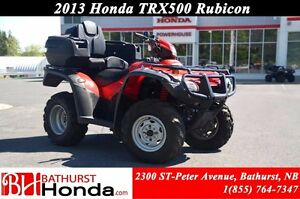 2013 Honda TRX500 Rubicon Rear Seat!