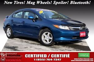 2012 Honda Civic Sedan LX New Tires! Mag Wheels! Spoiler! Blueto