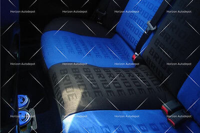 JDM Blue BRIDE Racing Seat Cover Door Panel Armrest Decoration Material 1Mx1.6M
