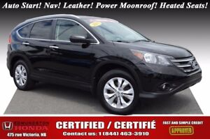 2013 Honda CR-V TOURING Auto Start! Nav! Leather! Power Moonroof