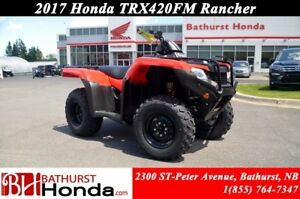 2017 Honda TRX420 Rancher Foot Shift! Efficient Engine! Easy Sta