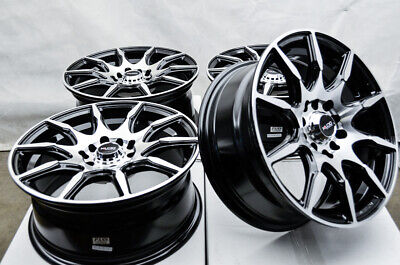 "15"" Wheels Honda Accord Civic Prelude Corolla Prius Scion tC xB 5 Lugs Black Rim"