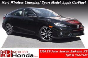 2017 Honda Civic Sedan SI 205hp! Nav! Sport Mode Button! Helical