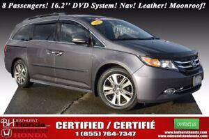 2015 Honda Odyssey Touring w/RES & Navi 8 Passengers! 16.2'' DVD