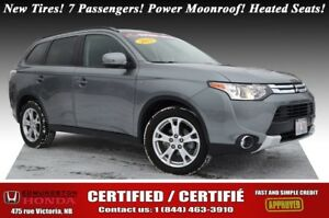 2015 Mitsubishi Outlander SE New Tires! 7 Passengers! Power Moon