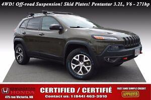 2014 Jeep Cherokee Trailhawk 4WD! Off-road Suspension! Skid Plat