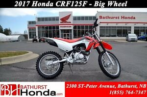 2017 Honda CRF125F Big Wheels! Simplified Maintenance! Easy Star