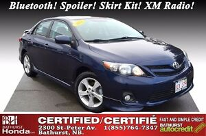 2011 Toyota Corolla S Certified! Bluetooth! Spoiler! Skirt Kit!