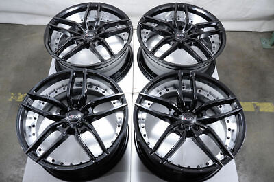 19x8.5 5x120 Black Wheels Fits Bmw 135 320 328 325 Z3 Z4 X1 340 5 Lug Rims