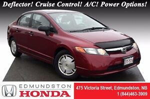 2008 Honda Civic Sedan DX-G LOW PRICE!! Deflector! Cruise Contro