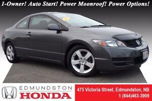 2009 Honda Civic Coupe LX - SR Auto Start! Power Moonroof! Power