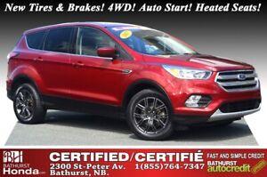 2017 Ford Escape SE - 4WD New Tires & Brakes! 4WD! Auto Start! H