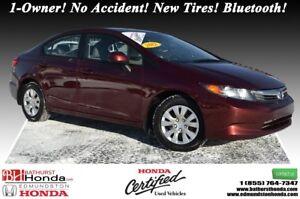 2012 Honda Civic Sedan LX 1-Owner! No Accident! New Tires! Bluet