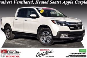 2017 Honda Ridgeline TOURING In Bed Truck Audio System! Leather!