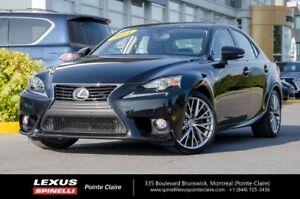 2014 Lexus IS 250 PREMIUM, CUIR, TOIT, CAMERA RECUL AWD LOW MILL