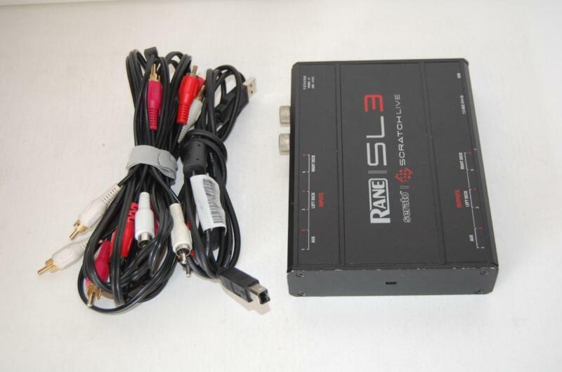 Rane Serato SL3 Audio Interface with USB and RCA Cables L@@@K!!!!