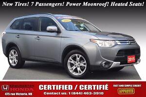 2015 Mitsubishi Outlander SE New Tires! 7 Passengers! Power Moon