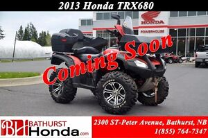 2013 Honda TRX680 Rincon Rear Seat! Winch! Windshield!