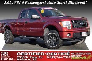 2014 Ford F-150 SXT - 4WD 5.0L, V8! 6 Passengers! Auto Start! Bl