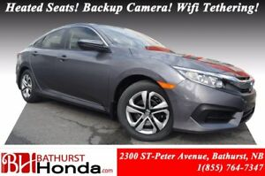 2017 Honda Civic Sedan LX Heated Seats! Backup Camera! Wifi teth