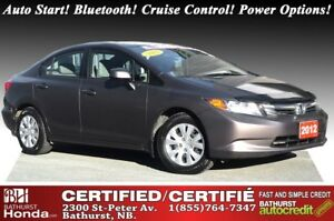 2012 Honda Civic Sedan LX Auto Start! Bluetooth! Power Options!