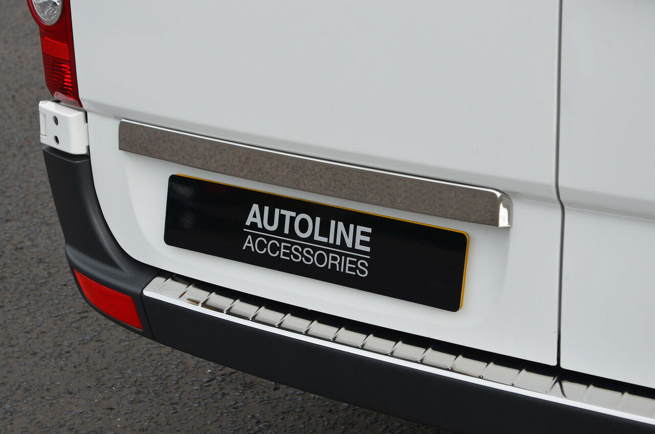 VW CRAFTER 17/> POLISHED CHROME STAINLESS STEEL REAR 4 DOOR HANDLE COVER TRIM SET