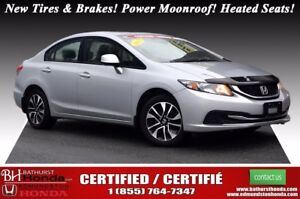 2013 Honda Civic Sedan EX New Tires & Brakes! Power Moonroof! He