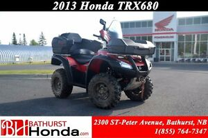 2013 Honda TRX680 Rincon Rear Seat! Winch! Windshield!